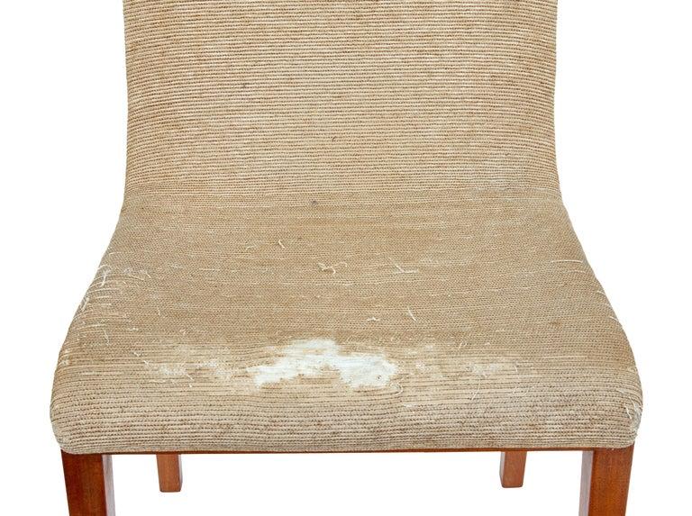 Set of 8 Scandinavian Teak Mid-20th Century Dining Chairs In Good Condition For Sale In Debenham, Suffolk