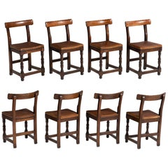 Set of '8' School Chairs