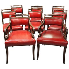 Set of 8 Scottish Regency Mahogany Dining Chairs