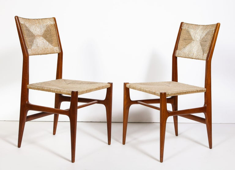 Italian Set of 8 Side Chairs by Gio Ponti for M. Singer & Sons For Sale