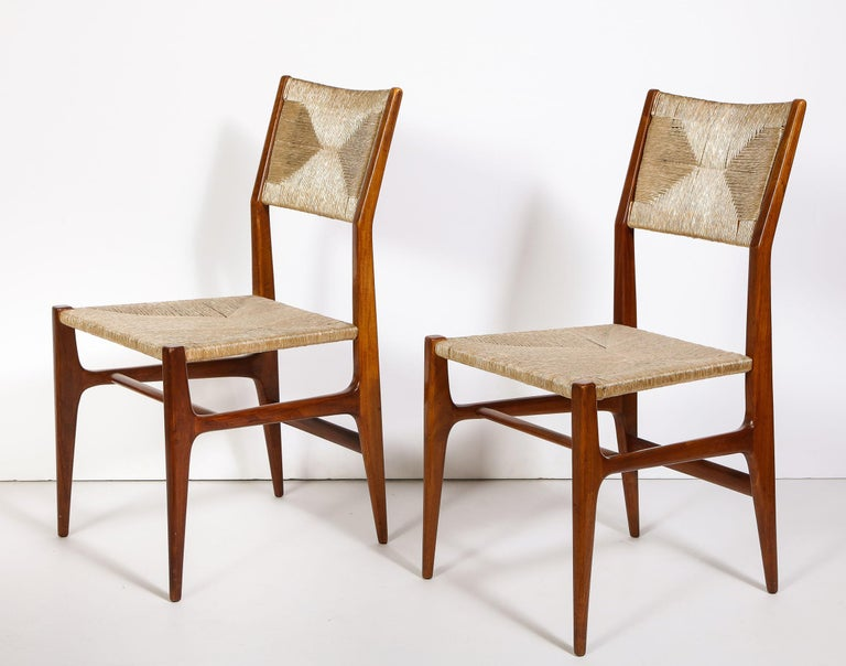 Set of 8 Side Chairs by Gio Ponti for M. Singer & Sons In Good Condition For Sale In New York, NY