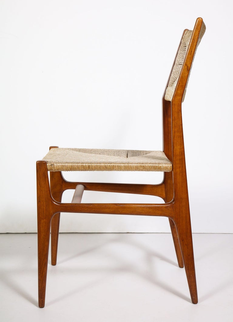 Mahogany Set of 8 Side Chairs by Gio Ponti for M. Singer & Sons For Sale