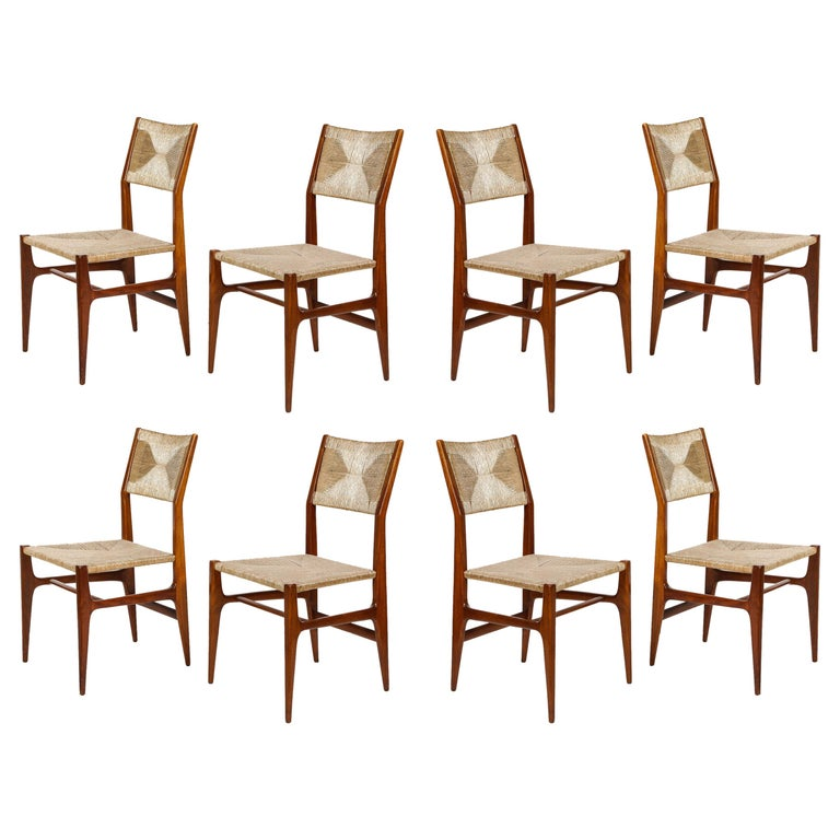 Set of 8 Side Chairs by Gio Ponti for M. Singer & Sons For Sale