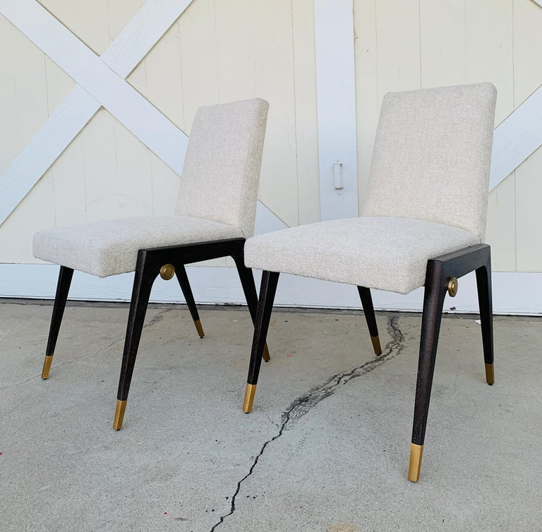 Set of 8 Sling Side Chairs by Thomas Pheasant for Baker For Sale 6