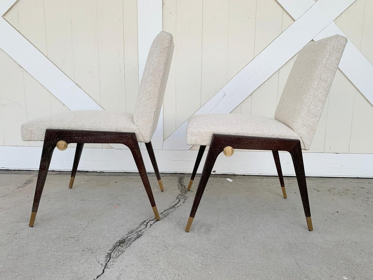 Set of 8 Sling Side Chairs by Thomas Pheasant for Baker For Sale 7
