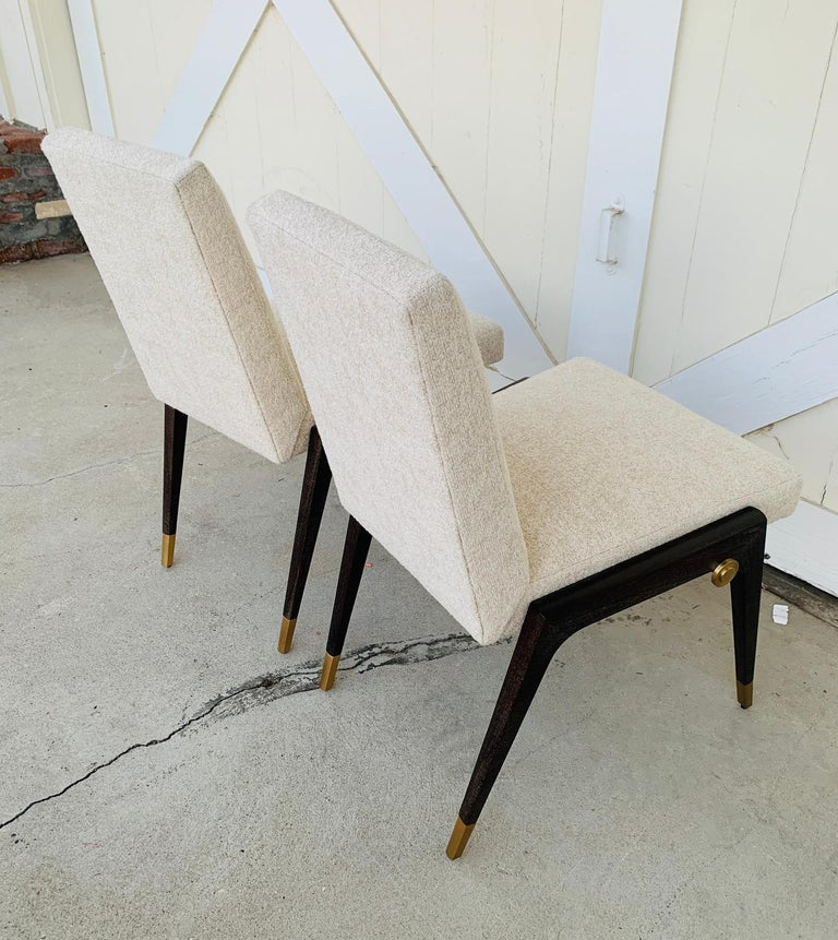 Set of 8 Sling Side Chairs by Thomas Pheasant for Baker For Sale 12