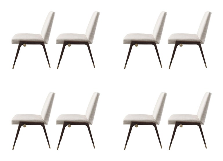 Aesthetic Movement Set of 8 Sling Side Chairs by Thomas Pheasant for Baker For Sale