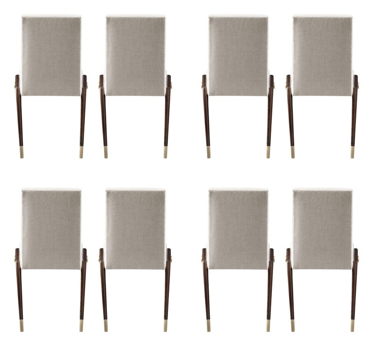 American Set of 8 Sling Side Chairs by Thomas Pheasant for Baker For Sale