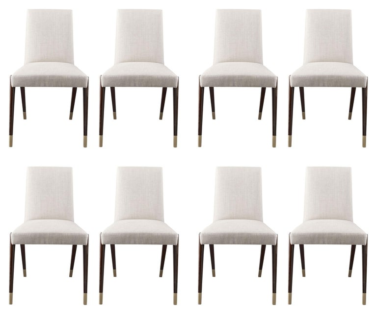 Set of 8 Sling Side Chairs by Thomas Pheasant for Baker In Good Condition For Sale In Los Angeles, CA