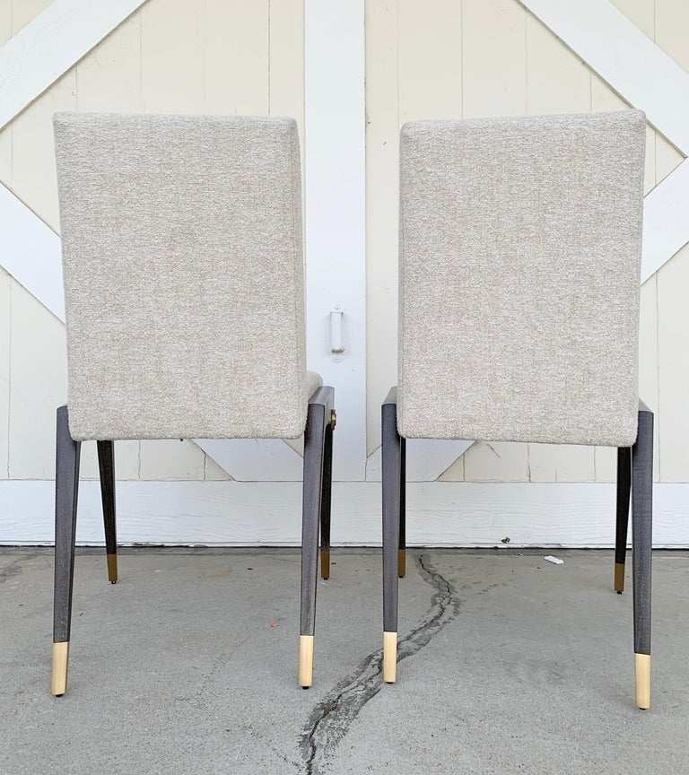 Contemporary Set of 8 Sling Side Chairs by Thomas Pheasant for Baker For Sale