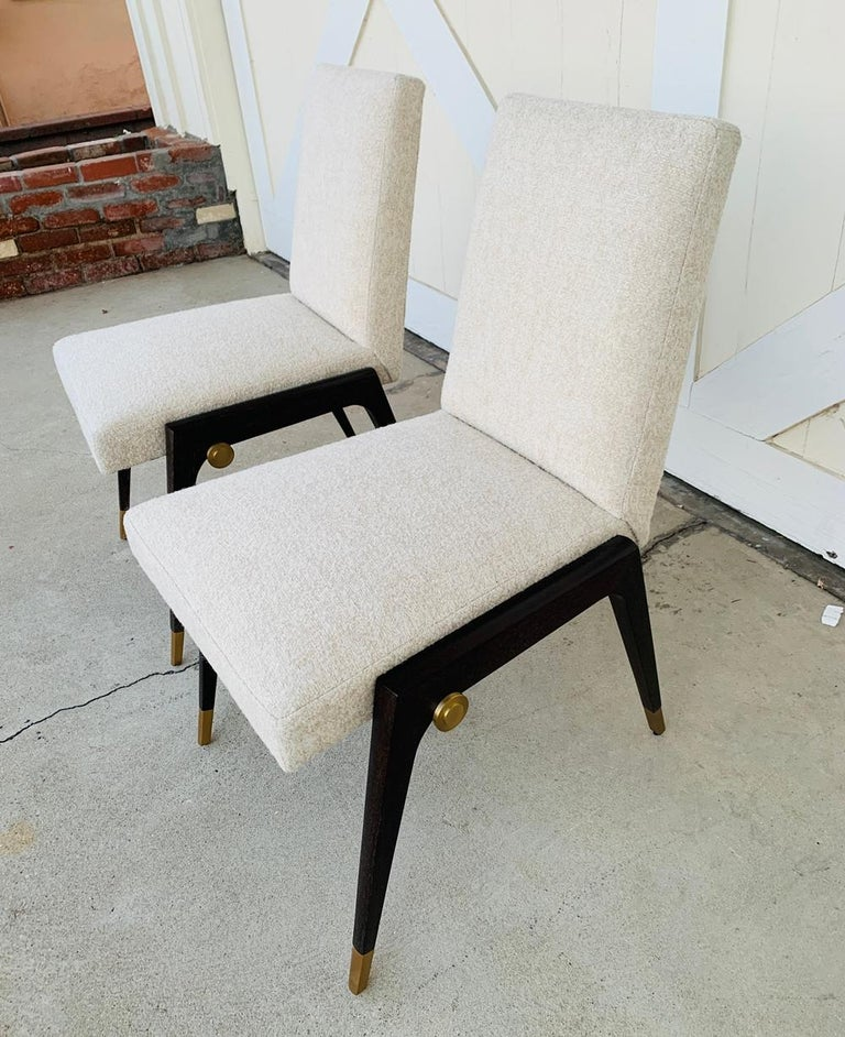 Set of 8 Sling Side Chairs by Thomas Pheasant for Baker For Sale 1
