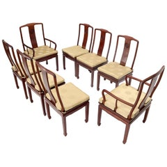 Set of 8 Solid Rosewood High Quality Chinese Asian Dining Room Chairs
