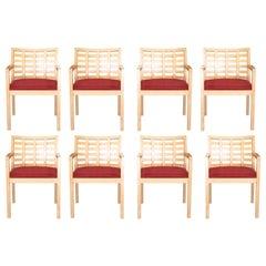 Set of 8 Steelcase Terrazzo Mid-Century Modern Armchairs
