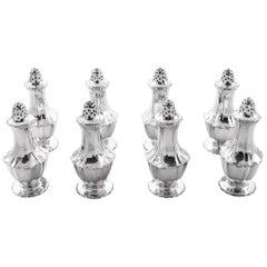 Set of 8 Sterling Tiffany Salt/Pepper Shakers