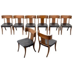 Set of 8 Stewart & Macdougall Neoclassical Klismos Dining Chairs