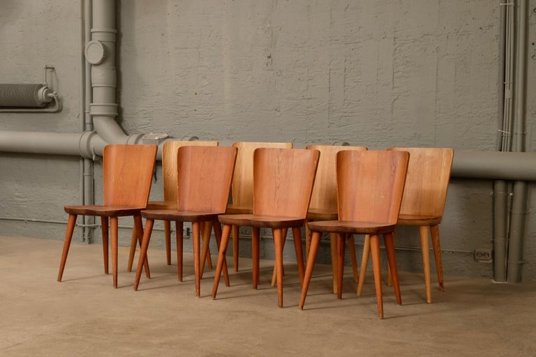 Rare set of 12 available Produced by Svensk Fur, 1940s Designed by Göran Malmvall.  €6000 for the set of 12