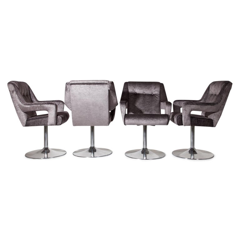 Set of 8 Swivel Chairs, Italy, Mid-20th Century 2