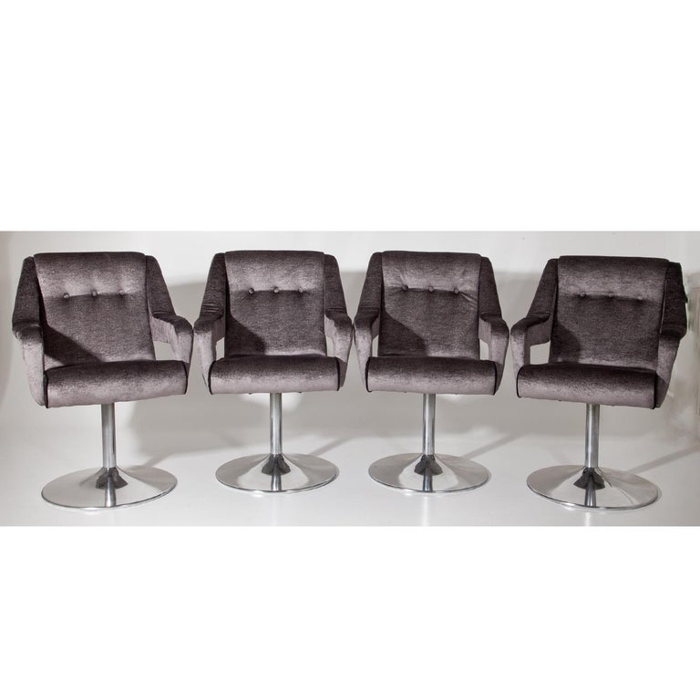 Set of 8 Swivel Chairs, Italy, Mid-20th Century 9