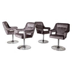 Set of 8 Swivel Chairs, Italy, Mid-20th Century