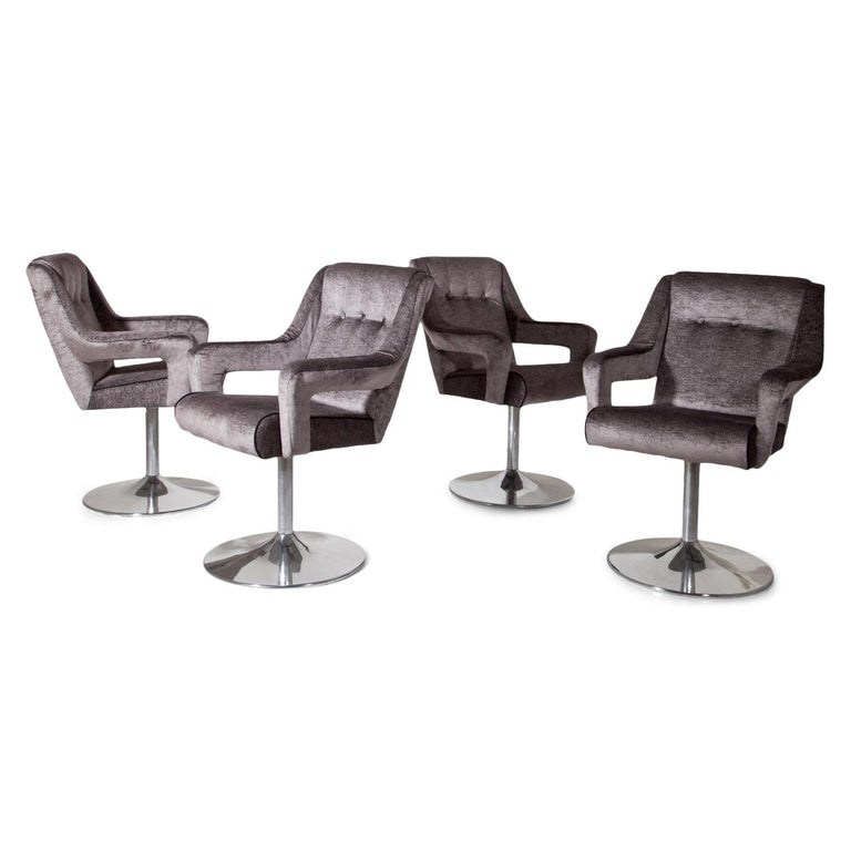 Set of 8 Swivel Chairs, Italy, Mid-20th Century 1