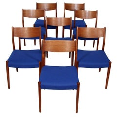 Set of 8 Teak Chairs by Fristho Franeker Made in Holland
