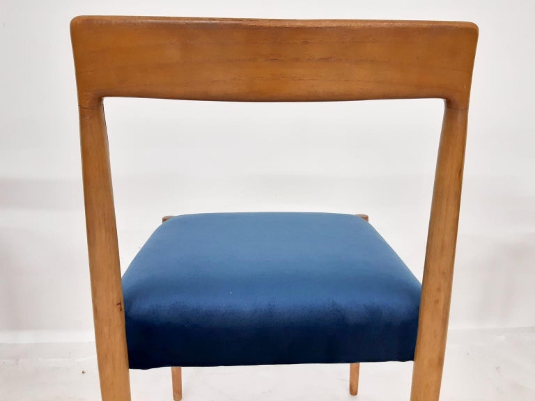 Set of 8 Teak Lubke Dining Chairs, Germany, 1960s In Good Condition For Sale In Amsterdam, NL