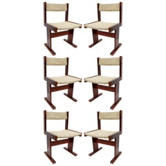 Set of 6 Teak Midcentury Danish Chairs