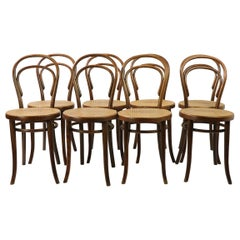 Set of 8 Thonet #14 Bistro Chairs