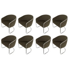 Set 8 Tub Dining or Lounge Chairs by Joan Burgasser / Anton Lorenz for Thonet