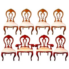 Set of 8 Venetian Baroque Style Dining Chairs