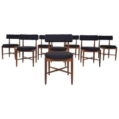 Set of 8 Victor Wilkins Teak Dining Chairs for G-plan, United Kingdom, 1960s