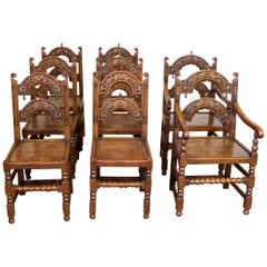 Set of 8 Victorian Derbyshire Style Chairs