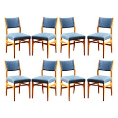 Set of 8 Gio Ponti Vintage Chairs, made by Cassina, Italy, circa 1951