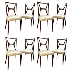 Set of 8 Vintage Chairs, Italy, 1970s