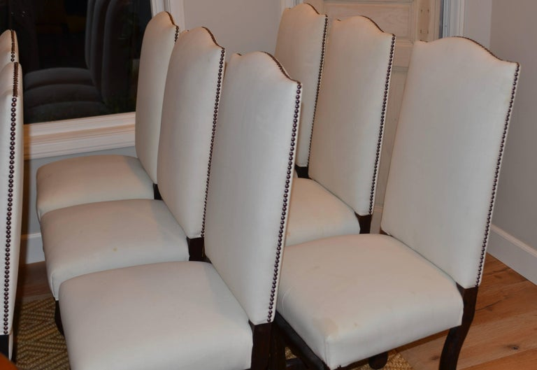 20th Century Set of Eight Vintage French Os De Mouton Dining Chairs For Sale