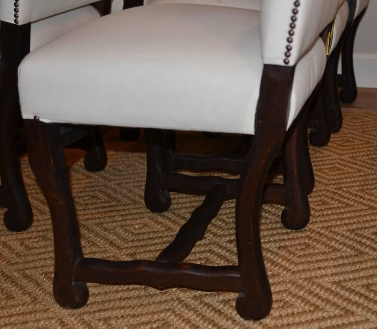 Set of Eight Vintage French Os De Mouton Dining Chairs For Sale 5