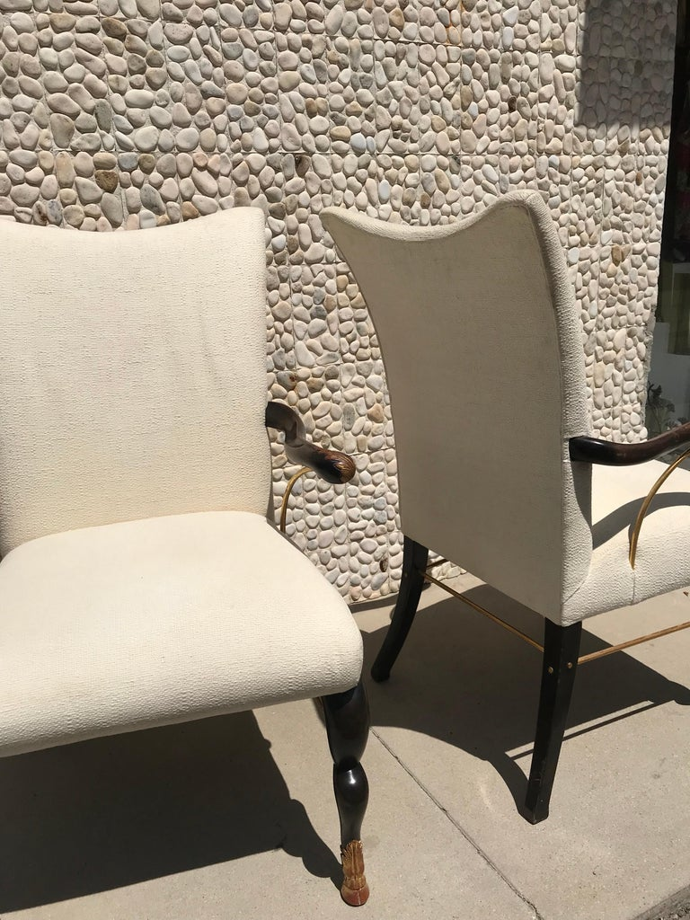 Set of 8 Vintage Hollywood Regency Custom Dining Chairs from Steve Chase Estate For ...