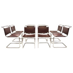 Set of 8 Vintage Spoleto Chairs by Knoll Studio, 1970s