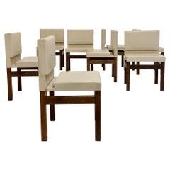 Set of 8 Wenge Dining Chairs, circa 1960, Belgium