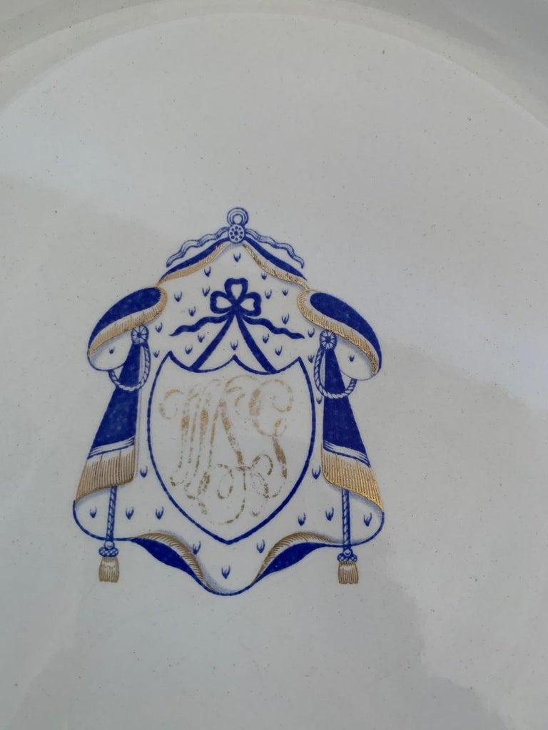 Set of 9 Antique Copeland Spode Dinner Plates For Sale 6