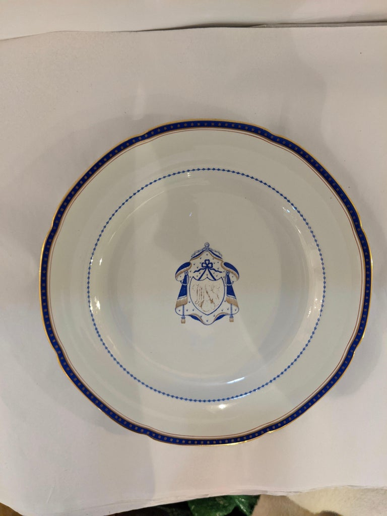 English Set of 9 Antique Copeland Spode Dinner Plates For Sale