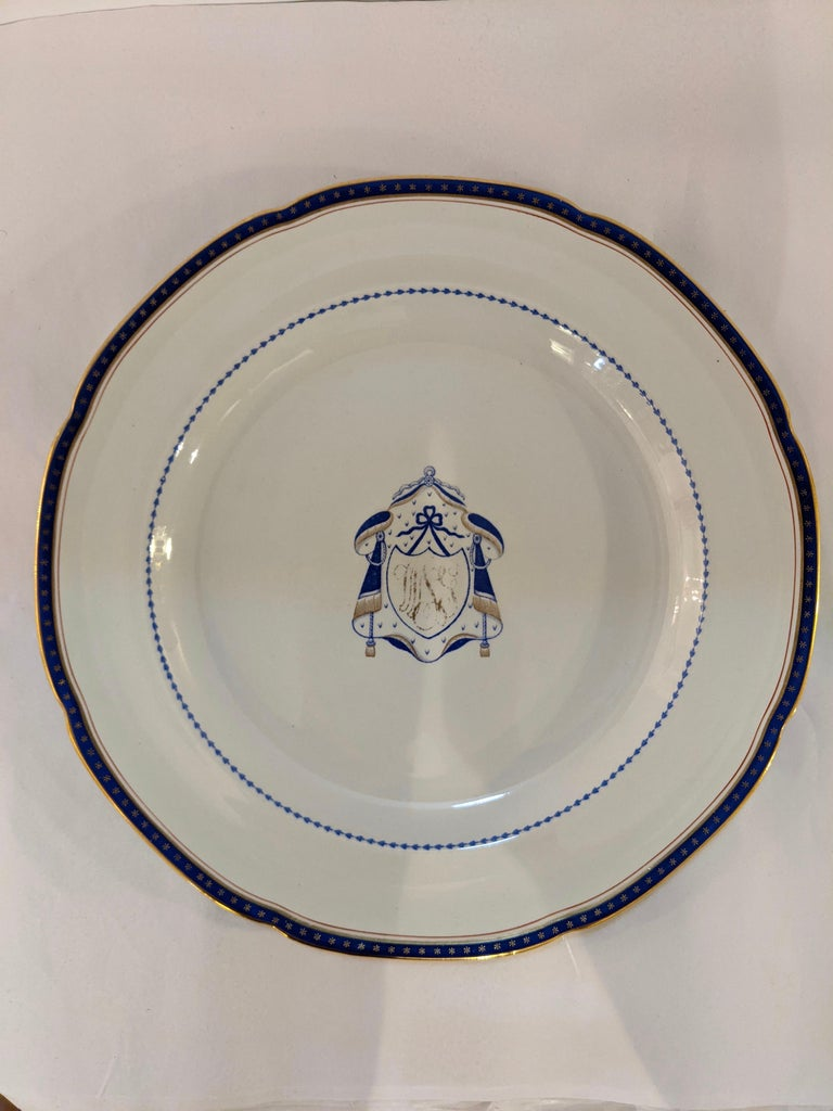 Set of 9 Antique Copeland Spode Dinner Plates In Good Condition For Sale In Hopewell, NJ