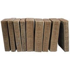 Set of 9 Antique Paper Bound Books Oeuvres de Bossuet