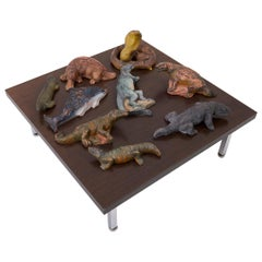Set of 9 Biology Animal Sculptures, 1940s