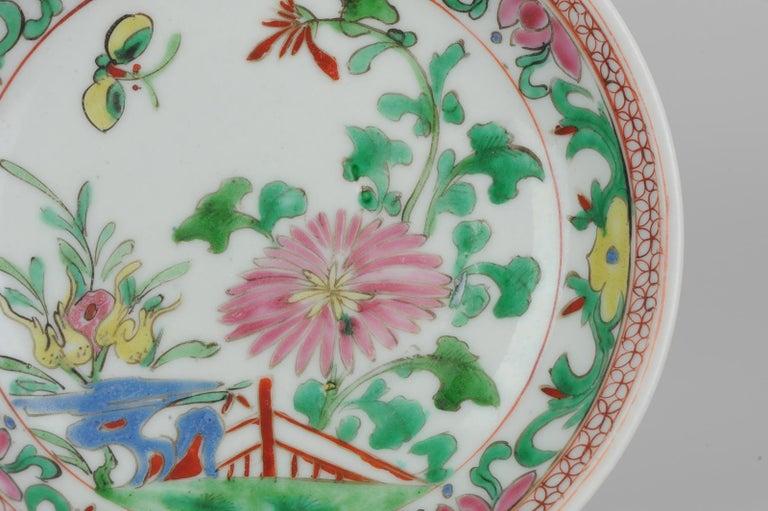 Set of 9 Chinese Porcelain Plates, SE Asian Market Straits Bencharong For Sale 6