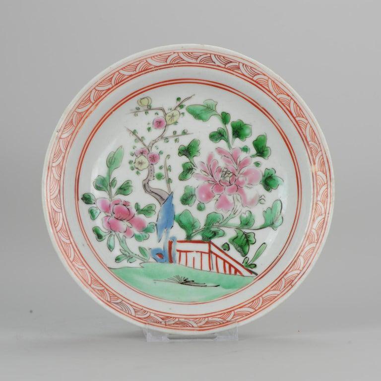 Set of 9 Chinese Porcelain Plates, SE Asian Market Straits Bencharong For Sale 7