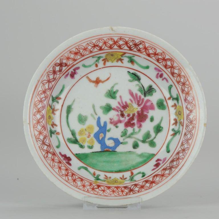 Set of 9 Chinese Porcelain Plates, SE Asian Market Straits Bencharong For Sale 11