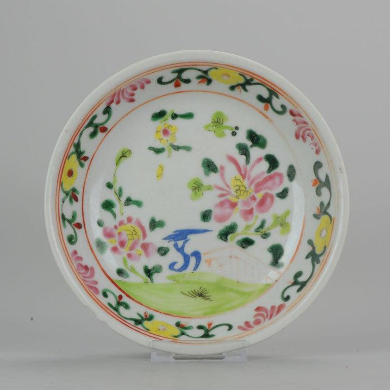 Set of 9 Chinese Porcelain Plates, SE Asian Market Straits Bencharong For Sale 14
