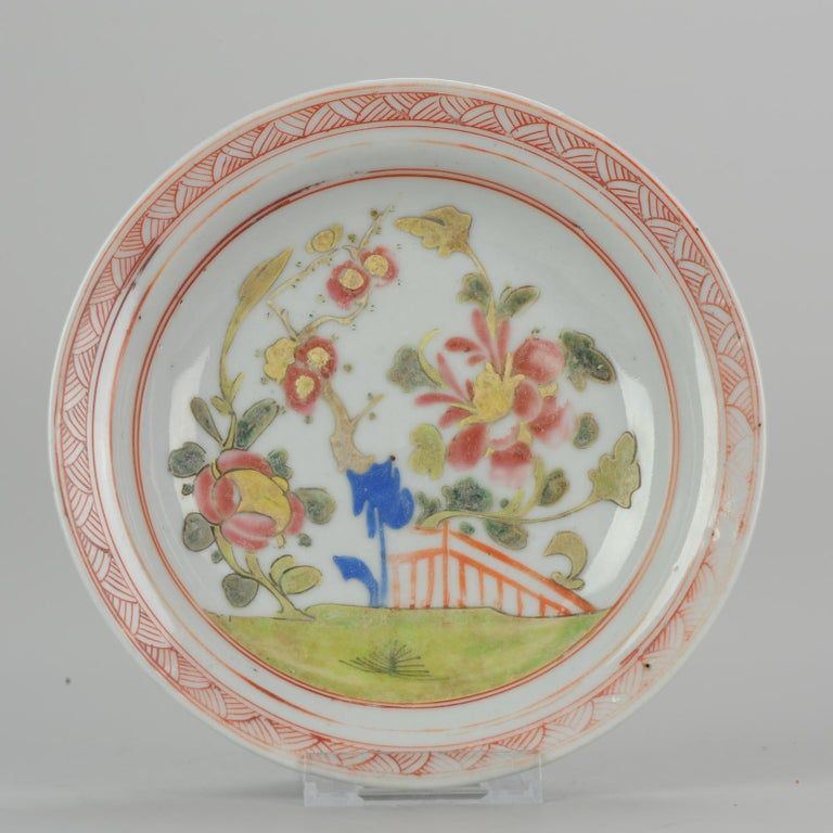 Set of 9 Chinese Porcelain Plates, SE Asian Market Straits Bencharong For Sale 15