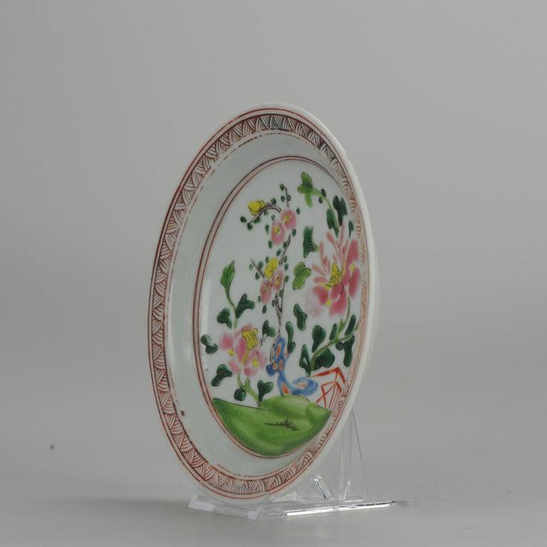 Qing Set of 9 Chinese Porcelain Plates, SE Asian Market Straits Bencharong For Sale